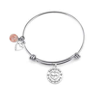 Shine Stainless Steel Quartz Expandable 'Daughter' Bangle