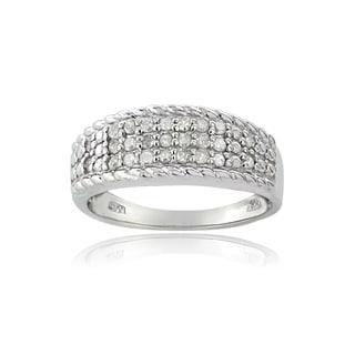 DB Designs Silvertone 1/4ct TDW Diamond Eternity Ring