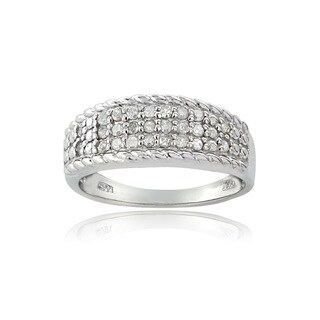 DB Designs Silvertone 1/4ct TDW Diamond Eternity Ring