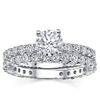 18k White Gold 2 1/10ct TDW Diamond Bridal Ring Set