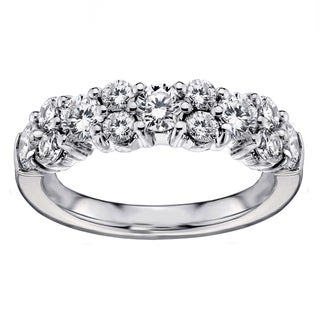 14k White Gold 2ct TDW Brilliant-cut Garland Diamond Wedding Band