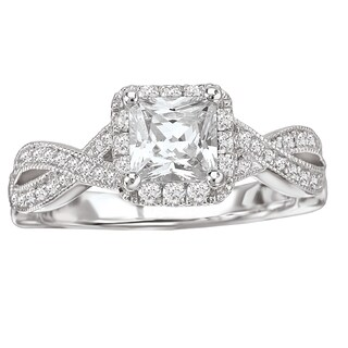 Avanti 14k White Gold 5/8ct TDW Princess-cut Diamond Ring (G-H, SI1-SI2) (More options available)