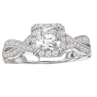 Avanti 14k White Gold 5/8ct TDW Princess-cut Diamond Ring (G-H, SI1-SI2)