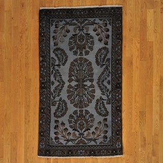 Hand-knotted Old Persian Worn Lilahan Rug (3' x 6')