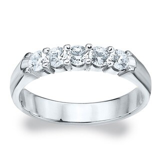 Amore Platinum 1/2ct TDW Diamond Wedding Band