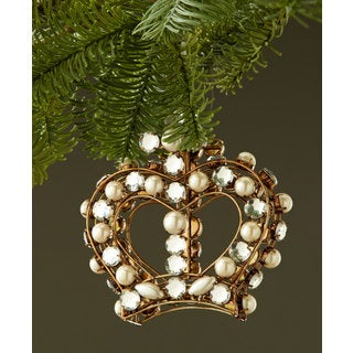 Sage & Co 5-inch Jeweled Crown Christmas Ornament (Pack of 6)