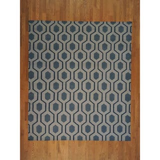 Hand-woven Durie Kilim Flat Weave Hand Woven Wool Rug (8' x 10')