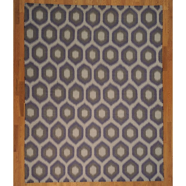 Hand woven hand woven wool geometric design durie kilim rug 8 39 x 10 39 free shipping today - Ways decorating using kilim print ...