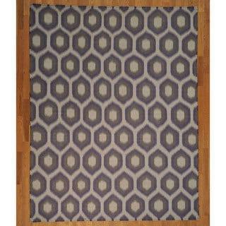 Hand-woven Hand Woven Wool Geometric Design Durie Kilim Rug (8' x 10')