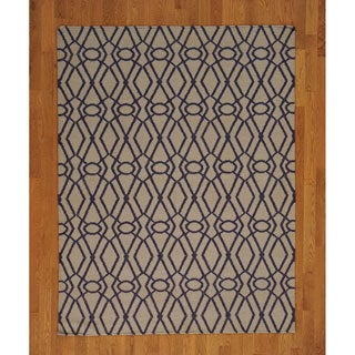 Hand-woven Hand Woven Wool Durie Kilim Flat Weave Rug (5' x 7')