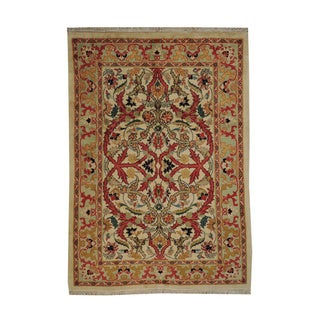 Hand-knotted Persian Sarouk Wool Oriental Rug (7' x 9')