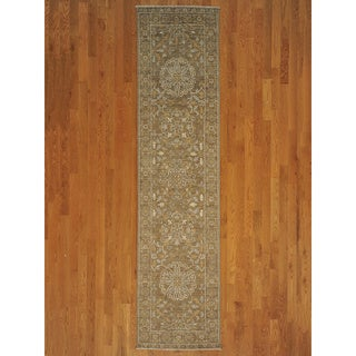 Hand-knotted Sultanabad Oriental Natural Dyes Runner Rug (3' x 11')