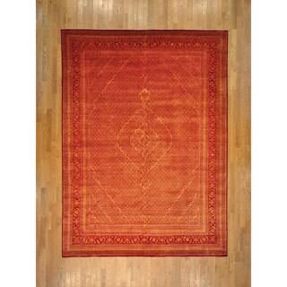 Hand-knotted Over-dyed Tabriz Mahi Wool and Silk Rug (9' x 12')