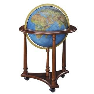 LaFayette Blue Illuminated Floor World Globe