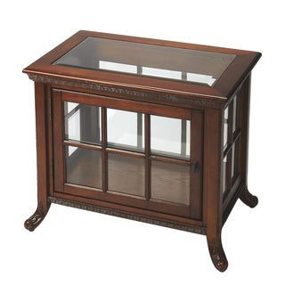 Oak Side Curio Table