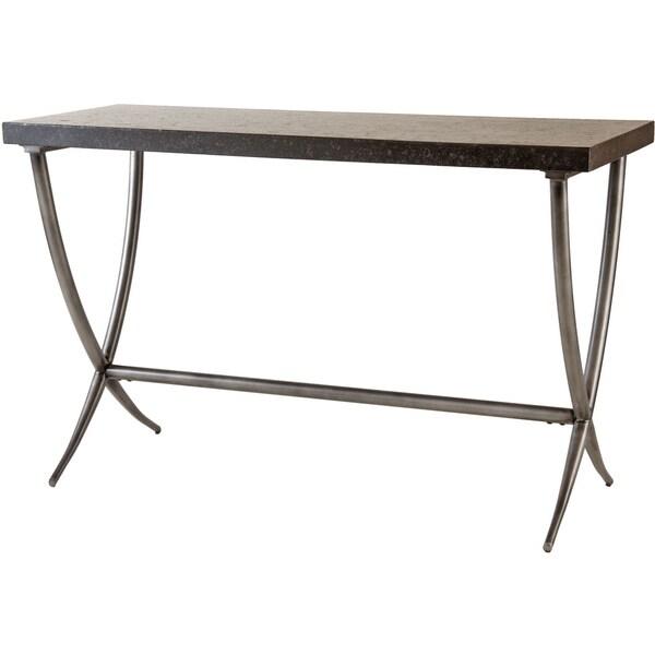 Valencia Bantera Stone And Metal Console Table