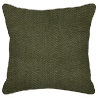 Kosas Home Geneva Leaf Green-20-inch Feather and Down Filled Decorative Pillow