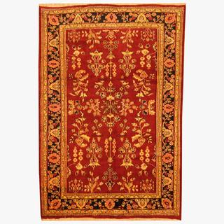 Herat Oriental Indo Hand-knotted Persian Sarouk Wool Rug (5'10 x 8'10)