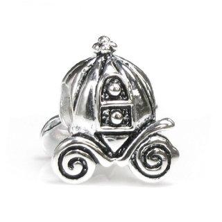 Queenberry Princess Pumpkin Carriage Coach European Bead Charm