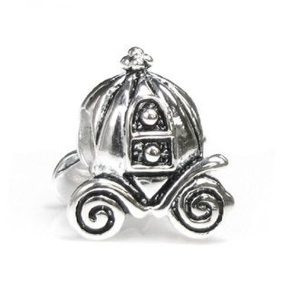 Queenberry Princess Pumpkin Carriage Coach European Bead Charm