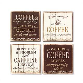 Wood Coffee Coaster Set (Set of 4)