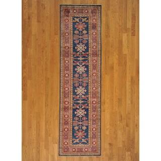 Runner Wool Super Kazakh Oriental Handmade Area Rug (2'8 x 9'7)