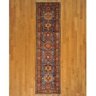 Runner Fine Kazakh Oriental Handmade Wool Area Rug (2'6 x 9'1)