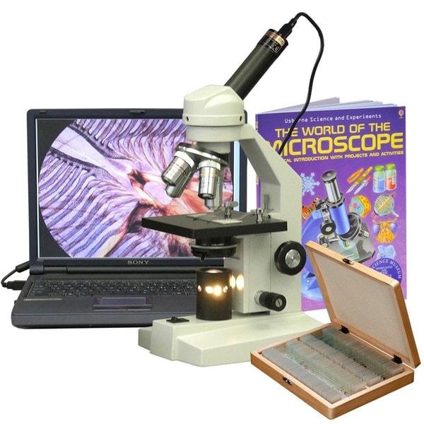AmScope 40x-2500x Advanced Student Microscope