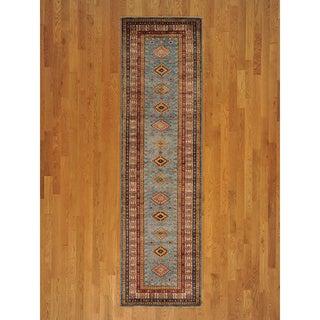 Runner Wool Super Kazak Handmade Oriental Area Rug (2'9 x 9'10)