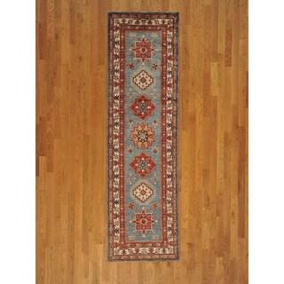 Runner Tribal Design Super Kazak Oriental Handmade Area Rug (2'9 x 9'7)