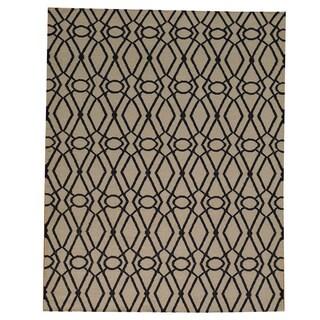 Hand-woven Durie Kilim Oriental Flat Weave Wool Rug (5'3 x 6'10)