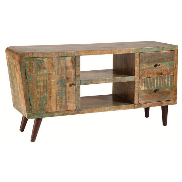 Orbit Distressed Mango Wood Cabinet