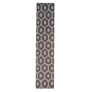 Hand-woven Durie Kilim Wool Flat Weave Runner Rug (2'7 x 12'2)