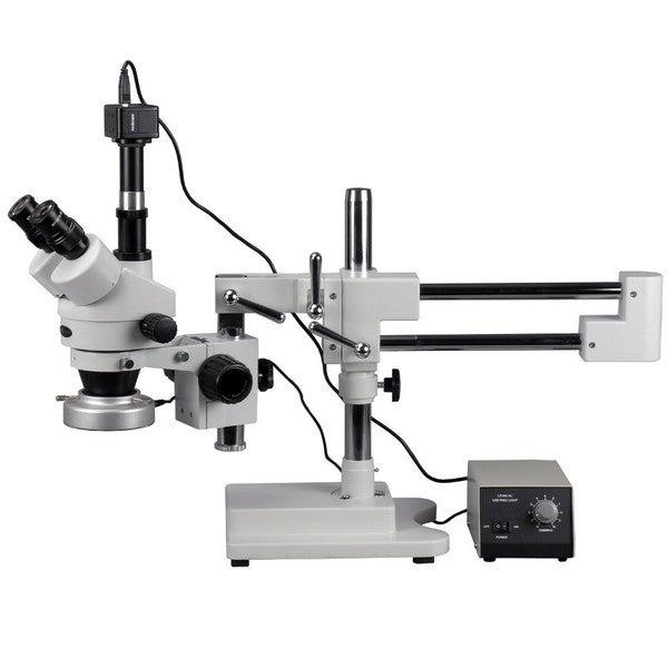 5MP Digital Camera 3.5x-90x Boom Stand Stereo Microscope