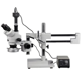 5MP Digital Camera 3.5x-90x Boom Stand Stereo Microscope