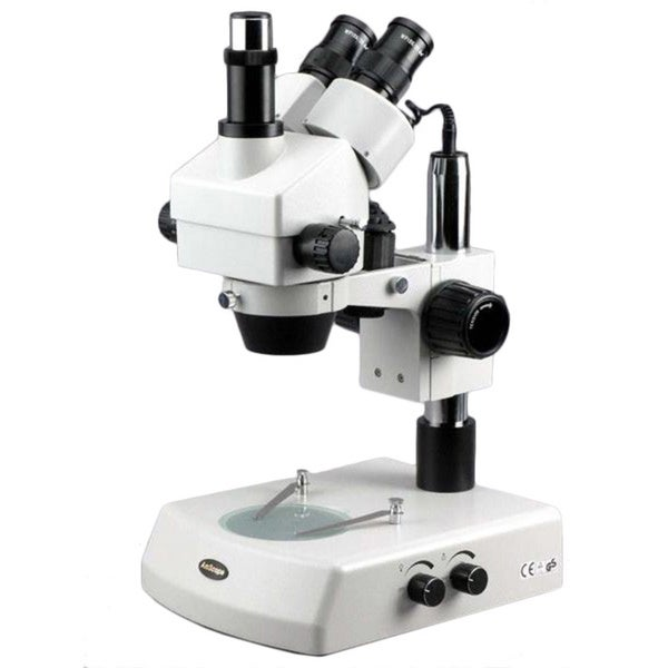 3.5x-90x Stereo Zoom Microscope with Dual Halogen Lights and 5MP Camera