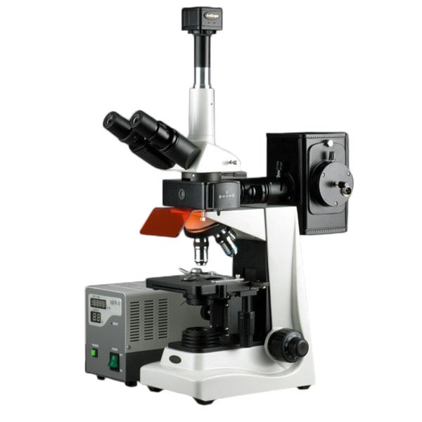 40x-1600x EPI Fluorescence Trinocular Microscope with 3MP Digital Camera