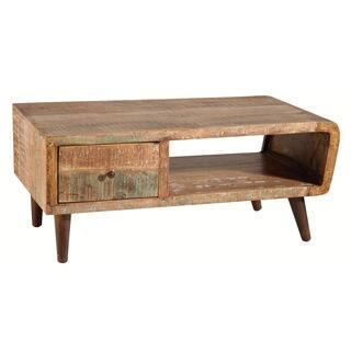orbit distressed mango wood cocktail table