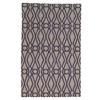 Hand-woven Geometric Durie Kilim Flat Weave Oriental Wool Rug (4' x 6'1)