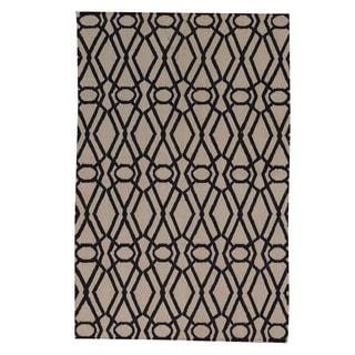 Hand-woven Durie Kilim Ivory Oriental Flatweave Wool Rug (4'1 x 6'3)