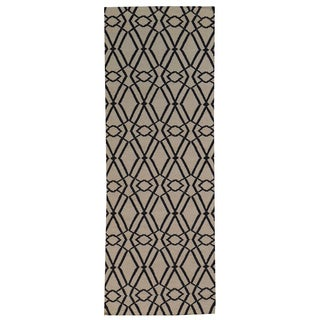Hand-woven Durie Kilim Flat Weave Wool Runner Rug (2'10 x 7'8)