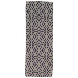 Hand-woven Flat Weave Durie Kilim Wool Runner Rug (2'10 x 7'10)