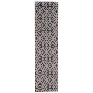 Hand-woven Oriental Geometric Durie Kilim Wool Runner Rug (2'8 x 9'8)