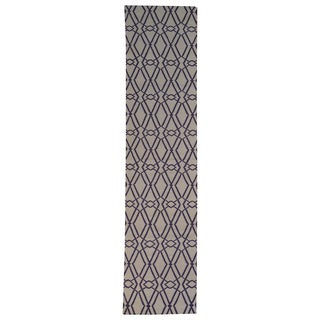 Hand-woven Geometric Durie Kilim Wool Runner Rug (2'9 x 11'9)