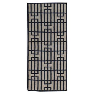 Hand-woven Reversible Oriental Wool Runner Rug (2'8 x 6'1)