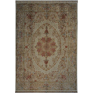 Hand-knotted Pure Silk Oriental 500 KPSI Signed Rug (10' x 14'6)