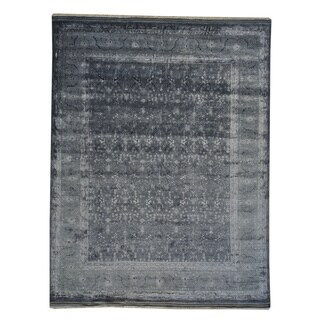 Fine Oushak and Rayon from Bamboo Silk Wool Rug (9' x 11'8)