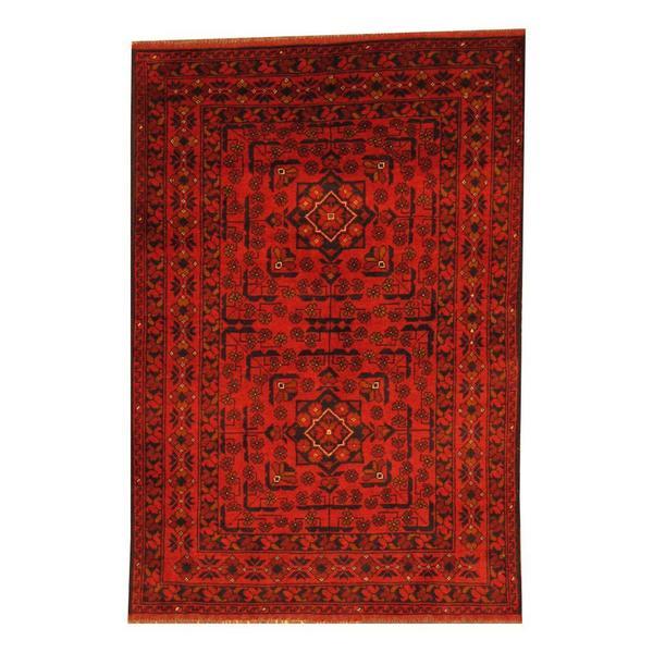 Handmade Khal Wool Rug (Afghanistan) - 3'4 x 4'10
