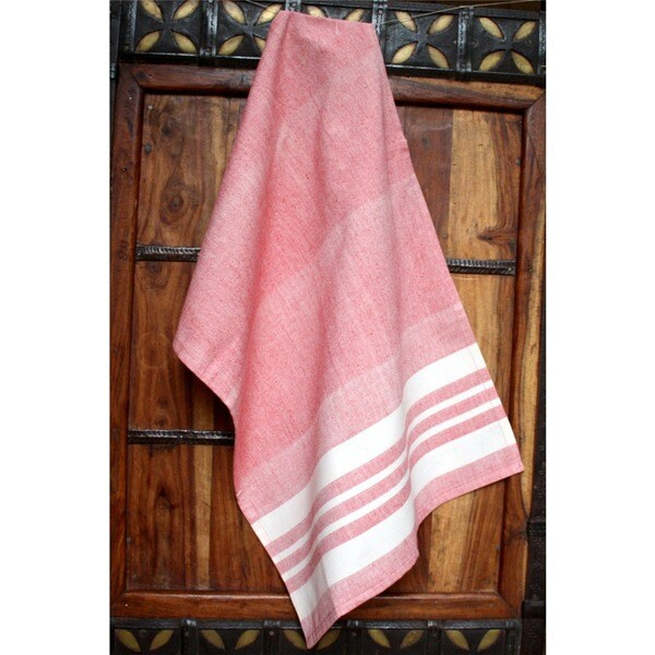 Handmade Rose Artisan Woven Kitchen Towel (India)