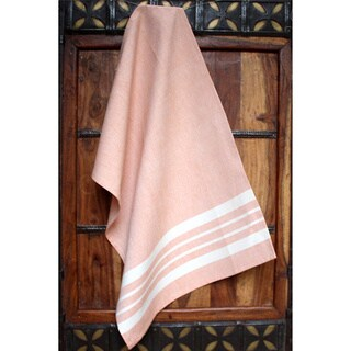 Handmade Zinnia Artisan Woven Kitchen Towel (India)